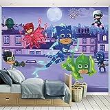 Kindertapete - Wandtapete - Fototapete PJ Masks + Tapetenkleister