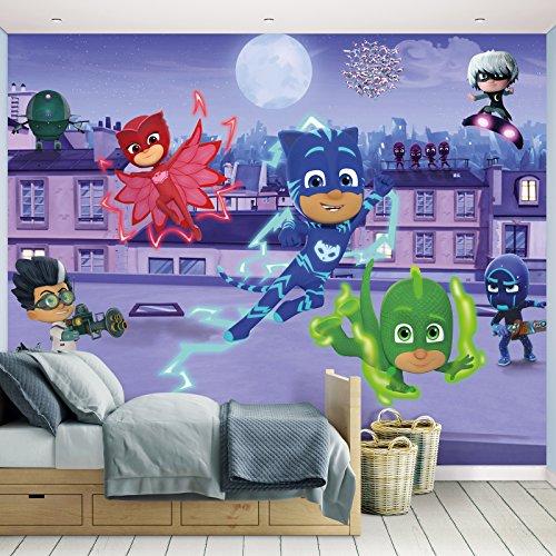 Kindertapete - Wandtapete - Fototapete PJ Masks + Tapetenkleister - Kinder, Tapete, Mädchen, Disney