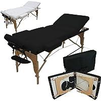 Vivezen ® Table de massage 13 cm pliante 3 zones en bois avec panneau Reiki + Accessoires et housse de transport - 2…