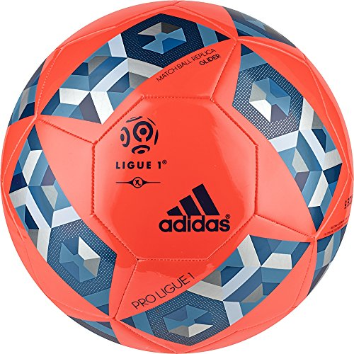 Pro Glider (adidas Pro Ligue 1 Top Glider Fußball, Solar Red/Unity Blue/Craft Blue, 5)