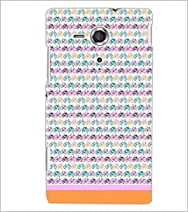 PrintDhaba Cycle Pattern D-1464 Back Case Cover for SONY XPERIA SP (Multi-Coloured)