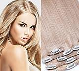 Clip in Extension set 7pezzi Liscio 60cm Extension per capelli capelli parte 100% veri capelli clip in Hair Extension di glamxte nsions