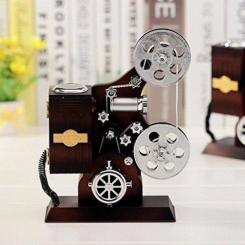 tagsgeschenk Musical Mechanismus Kreativer Projektor Spieldose Klassische Stil Spieldose Schmuckschatulle Dekoration 14.2 * 6.2 * 20.5Cm (Wirren, Geburtstag Dekorationen)