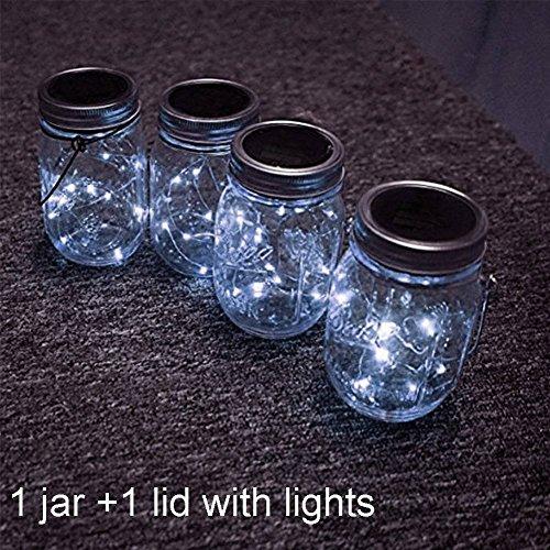 Solar Mason Jar Light, Solar pow...