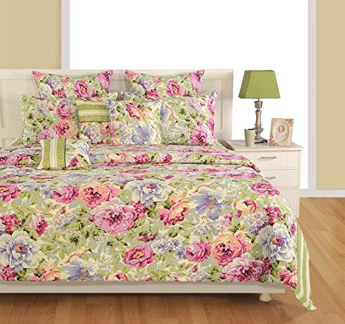 Yuga 8 Stück in Beutel gesetzt beige & rosa Baumwollmaterial Tröster Bettwäsche-Set Bett -