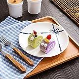 YUWANW Keramik Westlichen Tastatur Kontinentales Frühstück Kuchen Obst Kreative Frühstück Fach Mit Einem Teller Teller Fach Runde Gerichte, Bow Tie