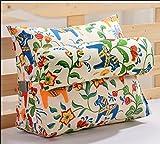 YOTA HOME Bedside Rückenlehne Triangle Kissen Kissen Nacht Zurück Einzel Kissen Büro-Sofa Taille Lendenkissen (Größe : 60*50*22cm)