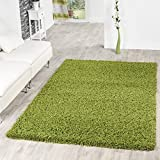 T&T Design Shaggy - Alfombra para salón, diferentes precios, varios colores, verde, 70x250 cm