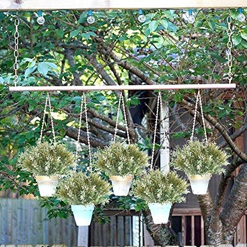 Nahuaa 4 Stück Künstliche Grün Sträucher Büsche Gefälschte Draußen Kunstpflanze Zweige Kunststoff Faux Kraut Bundles Tabelle Blumenarrangements Zuhause Küche Amtsstube