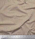Soimoi Braun Georgette Viskose Stoff Abstracts abstrakt