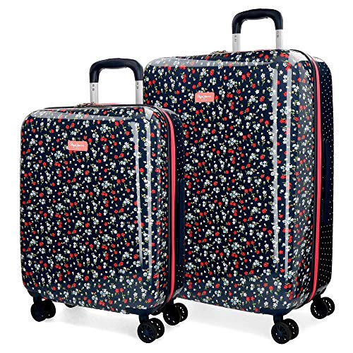 Pepe Jeans Jareth Set di valigie 69 centimeters 120 Multicolore (Multicolor)