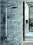 Cobre lleno ducha de agua caliente y fría del grifo ascensor/Conjunto de ducha cuadrado de impulso-A