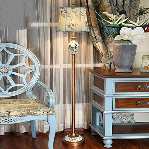 Liegende Wohnzimmer (ALUK- Im europäischen Stil Wohnzimmer liegende Studie kreative vertikale handbemalte Lampe (Farbe : B))