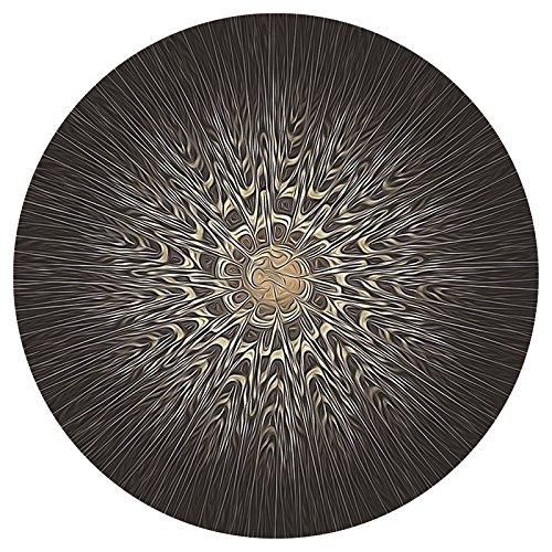 1Rundes Mauspad, Persönlichkeit Planet Muster Desktop Laptop Maus Pad 310x 310x 3mm, Stil 4, 31x31x0.3cm