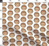 Affe, Affen, Niedliches Tier Stoffe - Individuell Bedruckt
