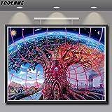 baodanla Kein Rahmen Psychedelic Art Silk Poste und Drucke Dekoration ng Decor Wandbilder Wohnzimmer Abs30x40cm