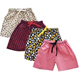 Lil Mee Girls Regular Shorts (Pack of 4)