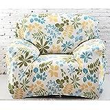 Yazi Sesselüberwurf, waschbar, Sofaschutz, Elastisch, 1-,2-,3-Sitzer, Textil, blau / grün, 35-55in