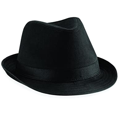 d027dfb9 Brand New Beechfield Fashionable Fedora Unisex Hat Available in Two Sizes:  Amazon.co.uk: Clothing