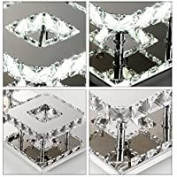 Modern Square 20cm 12W LED Crystal Ceiling lights chandeliers Aisle light from Jorunhe
