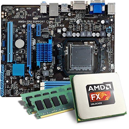 AMD FX-6300 / ASUS M5A78L-M LE/USB 3.1 Mainboard Bundle / 16384 MB | CSL PC Aufrüstkit | AMD FX-Series FX-6300 6x 3500 MHz, 16384MB DDR3, Radeon HD 3000, GigLAN, 7.1 Sound, USB 3.1 | Aufrüstset | PC Tuning Kit