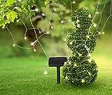 LED Solar Lichterkette Gartenparty Solarleuchte Solarlampe Gartenbeleuchtung 120 Lichter Weihnachtsbeleuchtung (20 m, Partylichterkette, Party-Beleuchtung, Außen-Lichterkette, Gartendeko)