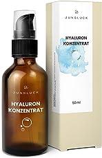 Junglück veganes Hyaluronsäure Konzentrat in Braunglas - hochdosiertes Hyaluron Serum - Anti-Aging Feuchtigkeitspflege - natürliche Kosmetik made in Germany - 50ml