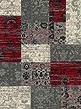 Teppich Bordüre rot - weinrot / grau / beige / schwarz mit Blumen Robust und Strapazierfähig 160 x 230 cm . Dieses Highlight der neuen Kollektion beeindruckt durch einzigartige Farbkombination. Dieses Highlight der neuen Kollektion beeindruckt durch einzigartige Farben als Farbverlauf . Doch seine Besonderheit bekommt dieses Modell durch das ausgefalle Muster, welches in dieser Form nur selten zu finden ist.