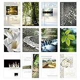 Set 12 einfühlsame Trauerkarten