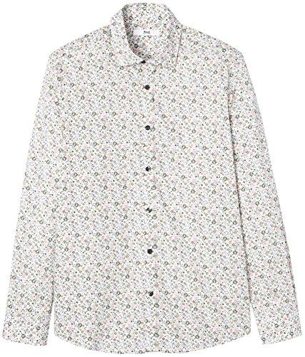 FIND Herren Maßgeschneidertes Hemd mit Blumenmuster Mehrfarbig (Floral)