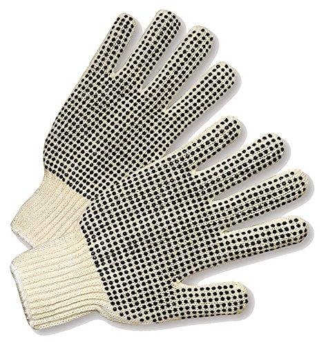 Preisvergleich Produktbild West Chester k708skbs PVC Dotted beiden Seiten String Knit Handschuhe,  Weiß,  Groß (12 Stück)