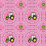 "John Deere 43/44"" Wide 100% Cotton D/R-Bandana Tractor"