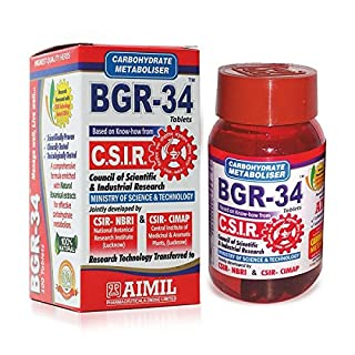 Artcollectibles India 100 Bgr-34 Tablets (1 Pack) 100% Natural Herbal Carbohydrate Metaboliser Research Product Of C.S.I.R