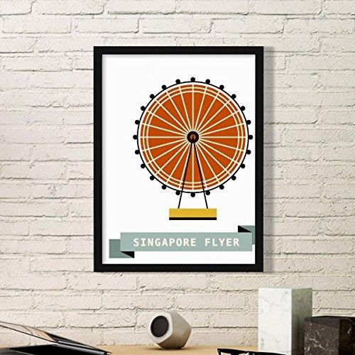 DIYthinker Singapore Flyer Landmark Semplice Cornice, usato usato  Spedito ovunque in Italia