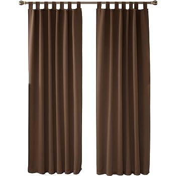 Fantastisch Deconovo Vorhang Blickdicht Schlaufen Gardinen Schlafzimmer Gardinen  Blickidhct 245×140 Cm Braun 2er Set