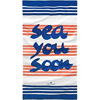 Tom Tailor Strandtuch Beach Towel Seaside Coral Badetuch
