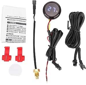 Broco Digital Thermometer Wassertemperatur Meter Messgerät For Honda Kawasaki Yamaha Suzuki Blaues Licht Auto