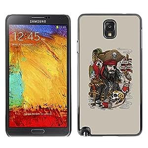 Be Good Phone Accessory // Hartschalen Handyhülle Schutzhülle Schutz Etui Hülle für Samsung Note 3 N9000 N9002 N9005 // Funny Pirate & Skull