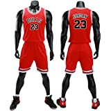 unbrand Enfant garçon NBA Michael Jordan # 23 Chicago Bulls Short de Basket-Ball Retro Maillots d'été Uniforme de Basket-Ball