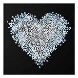 Druck auf Glas Wand Kunst–Diamant Herz–eckig 1: 1, Druck auf Glas, Glas Druck, Glas Bild, Wandbild, Glas Bild, Wandbild, Glas Wandbild, Glas-, Wandbild, Dimension HxB: 50cm x 50cm