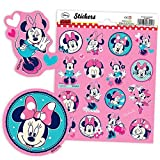 Haza MINNIE MOUSE-Sticker-Bogen, 16 Aufkleber von Minnie Maus in rosa pink, Disney