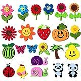 Surtido de 23 piezas de fieltro de fruta, pegatinas de fieltro para coser y coser para manualidades, manualidades y decoración