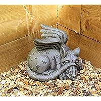 Dragon Garden Ornament-Gargoyle-Sculpture Stone Statue-Decorative Gift Welsh