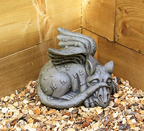 Dragon Garden ornament-gargoyle-sculpture Stein statue-decorative Geschenk Welsh