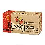 [ INFUSION 100% BISSAP ] Set di 2 scatole per infusione con Bissap | Fiori di ibisco o di Karkade | 100% naturale | 2 x 25 bu