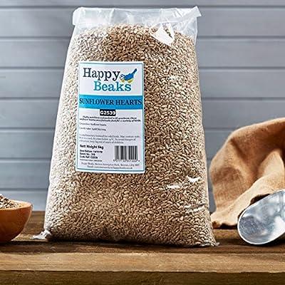 Wild Bird Food Sunflower Hearts Premium Bakery Grade Dehulled by Happy Beaks by Happy Beaks
