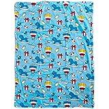 Mee Mee Soft Baby Blanket (Double Layered, Dark Blue - Duck Print)