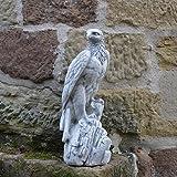 Wunderschöner Adler aus Steinguss, frostfest