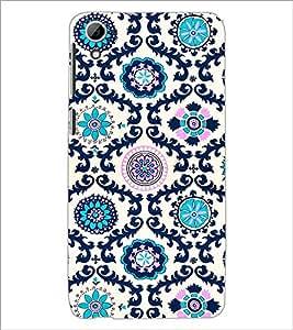 PrintDhaba Floral Design D-2047 Back Case Cover for HTC DESIRE 826 (Multi-Coloured)