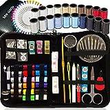 KIT DE COSTURA, 38 carretes de hilo - GRATIS Extra 20 colores más útiles de hilos - Mini kit de costura de viaje, kit de costura de principiantes, kit de costura de emergencia, campistas y hogar …
